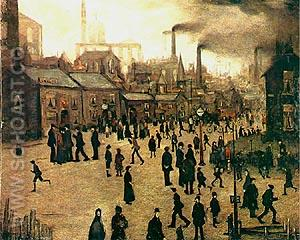A Manufacturing Town 1922 - L-S-Lowry reproduction oil painting