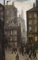 The Lodging House 1921 - L-S-Lowry reproduction oil painting