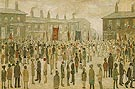 The Procession 1927 - L-S-Lowry