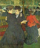 Two Women Dancing at the Moulin Rouge 1892 - Henri De Toulouse-lautrec reproduction oil painting