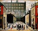 Street Scene Cul de sac 1935 - L-S-Lowry