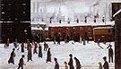 A Street Scene in the Snow 1935 - L-S-Lowry