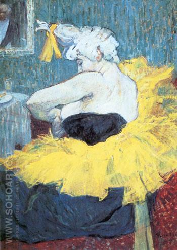 The Clowness Chau U Kao - Henri De Toulouse-lautrec reproduction oil painting
