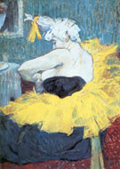 The Clowness Chau U Kao - Henri De Toulouse-lautrec