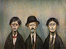 Father and Two Sons 1950 - L-S-Lowry