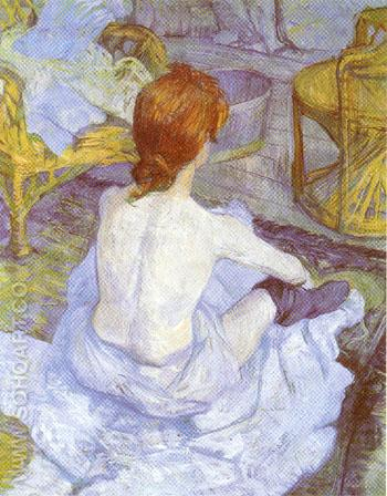 The Toilette 1896 - Henri De Toulouse-lautrec reproduction oil painting