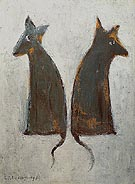 Two Dogs 1961 - L-S-Lowry