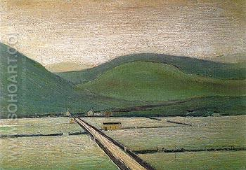 The Valley 1948 - L-S-Lowry reproduction oil painting