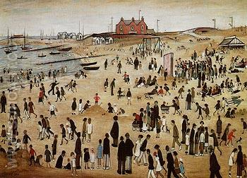 July the Seaside 1943 - L-S-Lowry reproduction oil painting