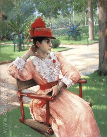 Afternoon in the Park 1890 - William Merrit Chase reproduction oil painting