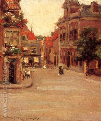 The Red Roofs of Holland  aka A Street in Holland 1903 - William Merrit Chase reproduction oil painting
