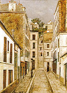 Impasse Cottin 1911 - Maurice Utrillo reproduction oil painting