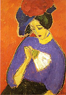 Woman with a Fan 1909 - Alexei von Jawlensky