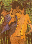 Lovers 1919 - Otto Mueller reproduction oil painting