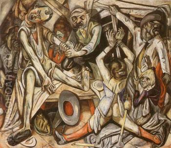 The Night c1918 - Max Beckmann reproduction oil painting