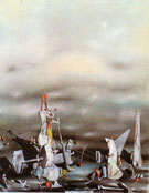 The Palace of the Window Cliffs 1942 - Yves Tanguy