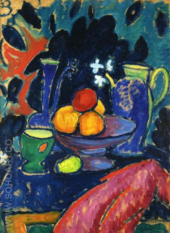 Still Life with Jug 1912 - Alexei von Jawlensky reproduction oil painting