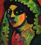 Sicillian Woman with Green Shawl 1912 - Alexei von Jawlensky