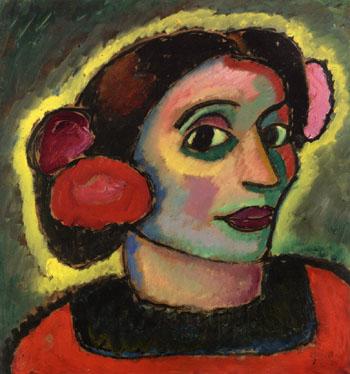 Spanish Woman 1911 - Alexei von Jawlensky reproduction oil painting