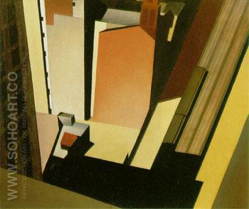 Church Street El 1920 - Charles Sheeler reproduction oil painting