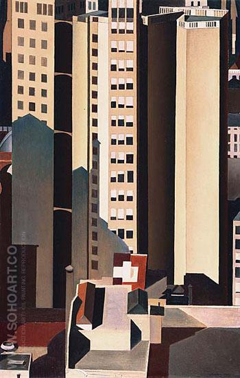 Skyscrapers 1922 - Charles Sheeler reproduction oil painting