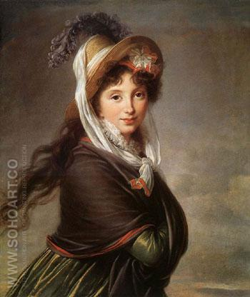 Portrait of  a Young Woman 1797 - Elisabeth Vigee Le Brun reproduction oil painting
