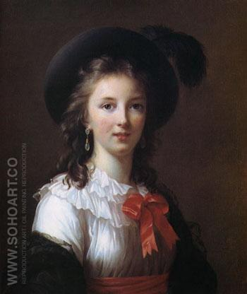 Self Portrait Aged 26 1781 - Elisabeth Vigee Le Brun reproduction oil painting