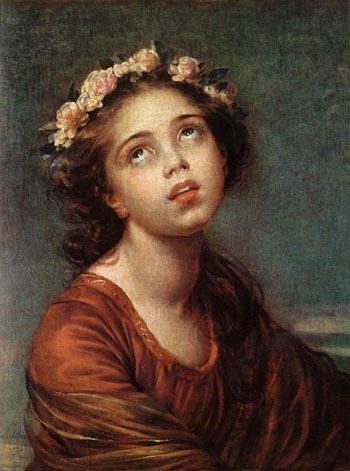 The Daughter's Portrait - Elisabeth Vigee Le Brun reproduction oil painting