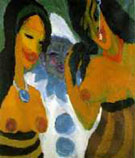 Woman and a Pierrot 1917 - Emile Nolde