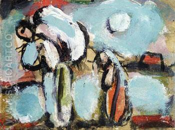 Peasant with Double Sack - George Rouault reproduction oil painting