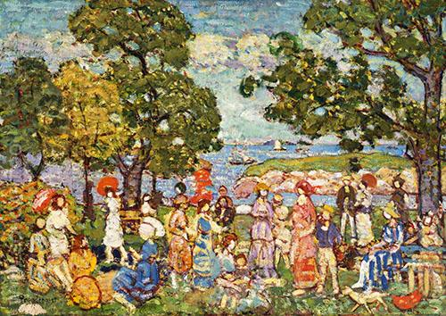 The Promenade c1912 - Maurice Prendergast reproduction oil painting