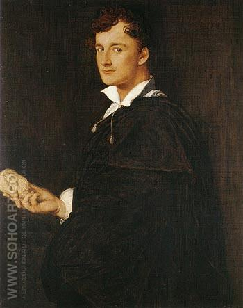 Lorenzo Bartolini 1805 - Jean-Auguste-Dominique-Ingres reproduction oil painting
