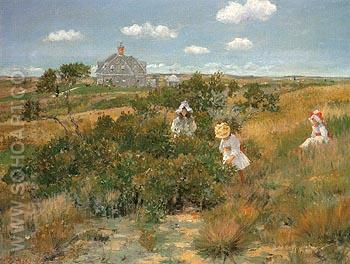 The Bayberry Bush c1895 - William Merrit Chase reproduction oil painting