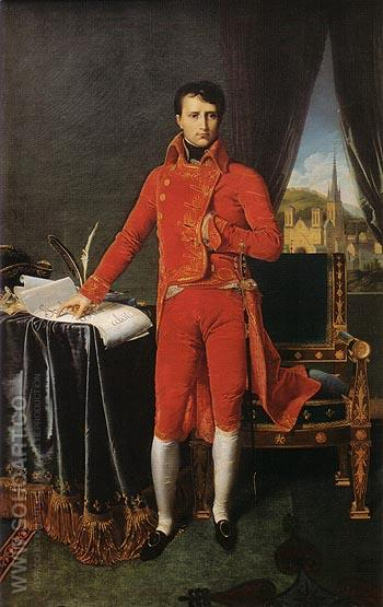 Bonaparte as First Consul 1804 - Jean-Auguste-Dominique-Ingres reproduction oil painting