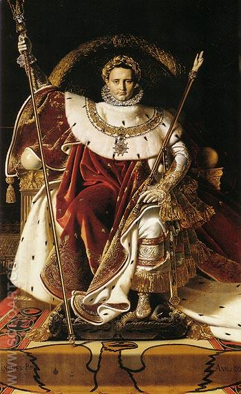 Napoleon I on His Imperial Throne 1806 - Jean-Auguste-Dominique-Ingres reproduction oil painting