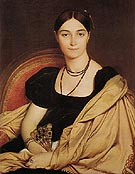 Madame Duvaucey 1807 - Jean-Auguste-Dominique-Ingres reproduction oil painting