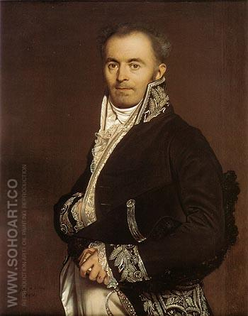 Hippolyte Francois Devillers 1811 - Jean-Auguste-Dominique-Ingres reproduction oil painting
