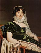 Comtesse de Tournon nee Genevieve de Seytres Caumont 1812 - Jean-Auguste-Dominique-Ingres reproduction oil painting