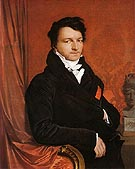 Jacques Marquet Baron de Montbetton de Norvins c1822 - Jean-Auguste-Dominique-Ingres reproduction oil painting