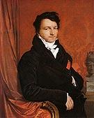 Jacques Marquet Baron de Montbetton de Norvins c1822 - Jean-Auguste-Dominique-Ingres reproduction oil painting