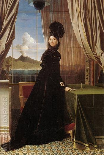 Queen Caroline Murat 1814 - Jean-Auguste-Dominique-Ingres reproduction oil painting
