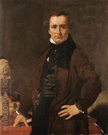 Lorenzo Bartolini 1820 - Jean-Auguste-Dominique-Ingres reproduction oil painting