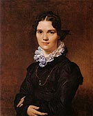 Mademoiselle Jeanne Suzanne Catherine Gonin 1822 - Jean-Auguste-Dominique-Ingres reproduction oil painting
