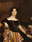 Madame Jacques Louis Leblanc 1823 - Jean-Auguste-Dominique-Ingres reproduction oil painting