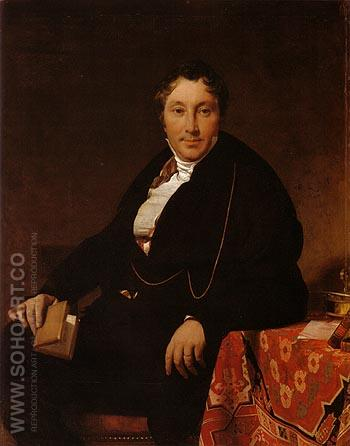 Jacques Louis Leblanc 1823 - Jean-Auguste-Dominique-Ingres reproduction oil painting