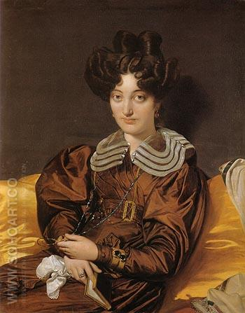 Madame Marie Marcotte 1826 - Jean-Auguste-Dominique-Ingres reproduction oil painting
