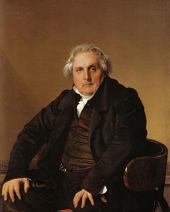 Louis Francois Bertin 1832 - Jean-Auguste-Dominique-Ingres reproduction oil painting