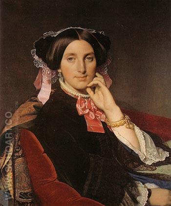 Madame Henri Gonse c1845 - Jean-Auguste-Dominique-Ingres reproduction oil painting