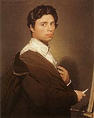 Self Portrait 1804 - Jean-Auguste-Dominique-Ingres reproduction oil painting