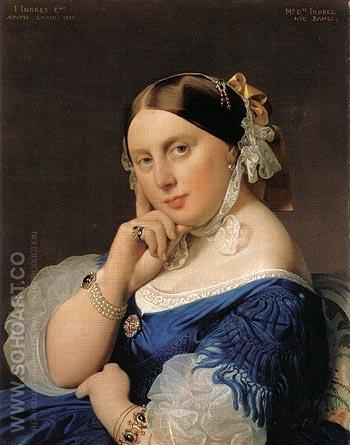 Madame J A D Ingres 1859 - Jean-Auguste-Dominique-Ingres reproduction oil painting